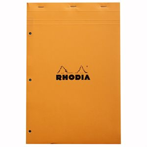 RHODIA PAD LINED PERFORATED 8.25x11.75 ORANGE