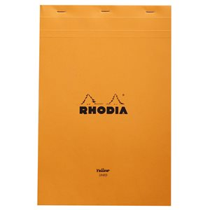 RHODIA PAD #19 LINED YELLOW 8.25x11.75 ORANGE