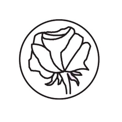 Sceau et manche de bois Rose
