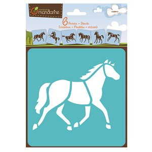 6 Assorted Stencils Horses