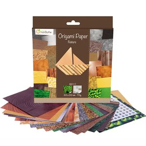 Papier Origami 60 fls assorties Nature