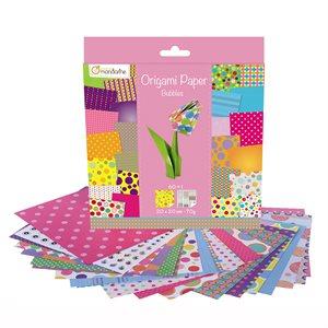 Papier Origami 60 fls assorties Bulles