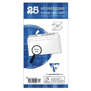 25 enveloppes DL Adhéclair