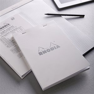 Rhodia Head Stapled Pad White
