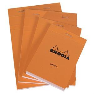 Bloc agrafé Orange Rhodia