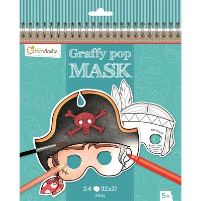 Masques à colorier GraffyPop Garçon