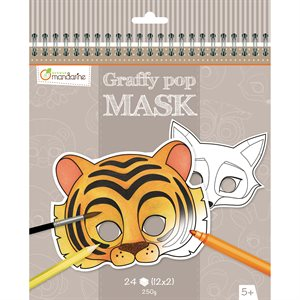 Masques à colorier GraffyPop Animaux