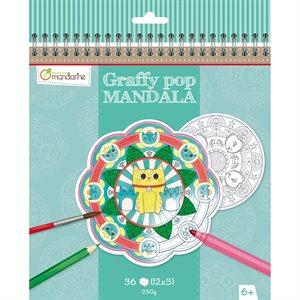 Cahier à colorier GraffyPop Mandala Animaux