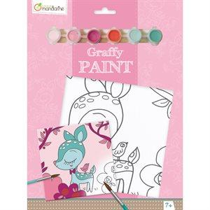 Toile à peindre Graffy Paint Faon
