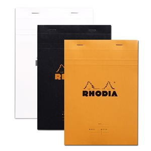 RHODIA MEETING PAD PRE-PRINTED #16 5.5x8.25 ORANGE